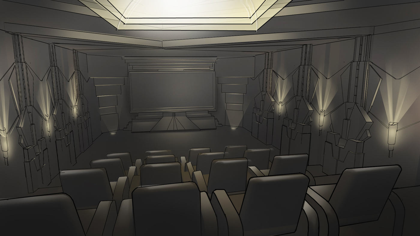 art deco home theater design homemade ftempo. Black Bedroom Furniture Sets. Home Design Ideas