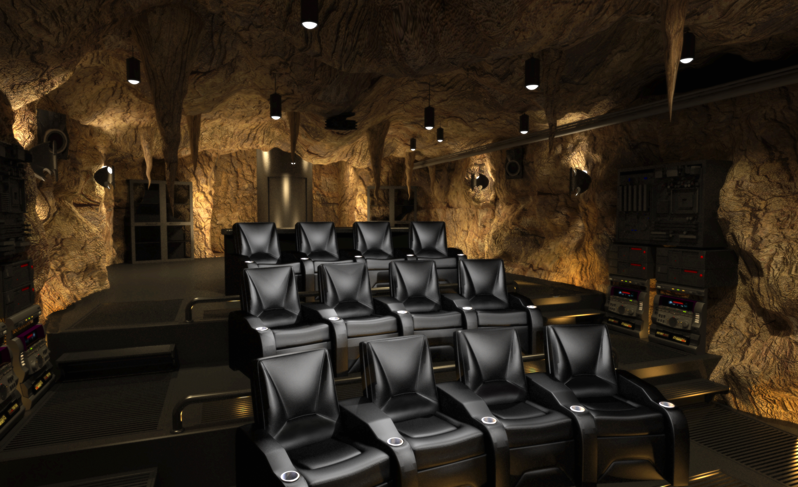 Awesome Original Batcave Theater Concept